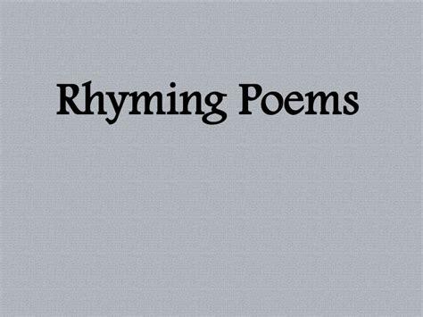5th grade rhyming poems