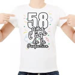 58 ans de mariage t shirt homme anniversaire quot 58 ans l âge de la perfection quot ketshooop t shirts anniversaires
