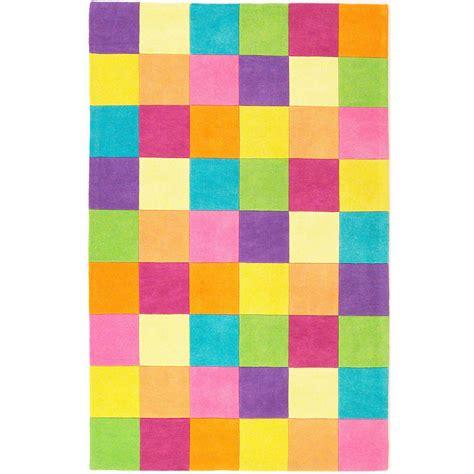 Green And Purple Rugs by Girls Color Block Wool Rug Sturbridge Yankee Workshop