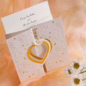 unique and elegant hearts embossed affordable folded With fancy folded wedding invitations