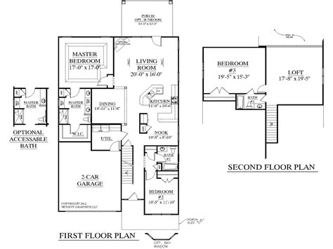 open floor house plans with loft simple 3 bedroom house plans 3 bedroom house plans with
