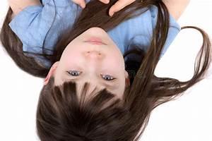 Upside, Down, Girl, Stock, Photo, Image, Of, Lying, Long