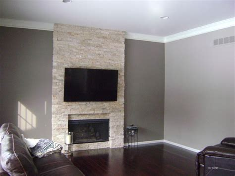 Popular Gray Paint Colors For Living Room by Accent Wall Requested Contemporary Family Room