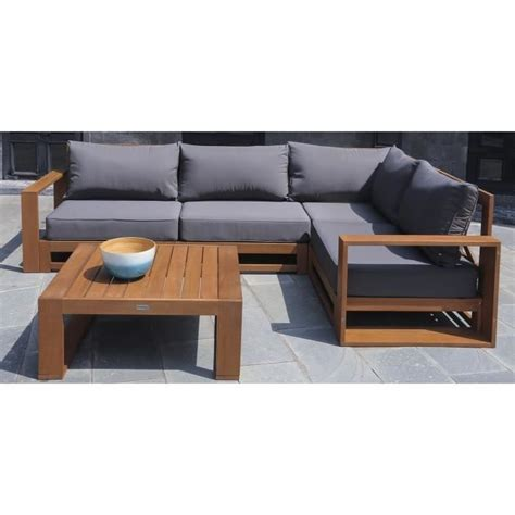 canapé d angle bois et chiffon emejing salon de jardin bois angle photos amazing house