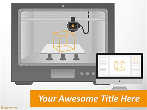 3d printer templates free 3d printing powerpoint template free powerpoint ppt