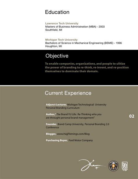 hajj flemings creative visual resume