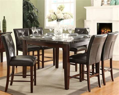 Marble Like Top Counter Height Dining Set