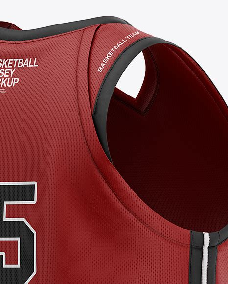 Try another basketball jersey designer ! Men's V-Neck Basketball Jersey Mockup - Back Half Side ...