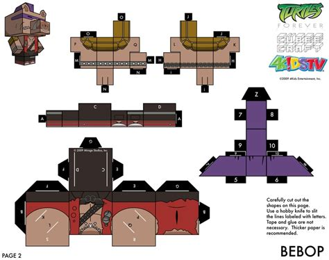 tmnt body template 56 best images about tmnt crafts paper cube figures on