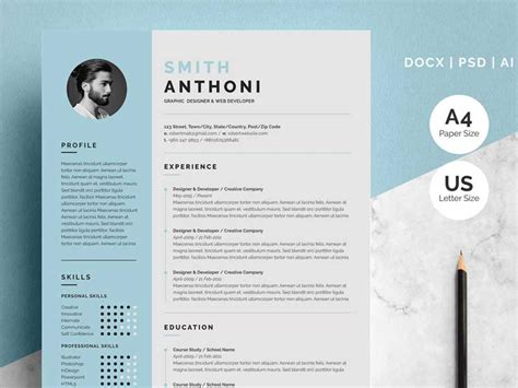pages resume template  graphicslot