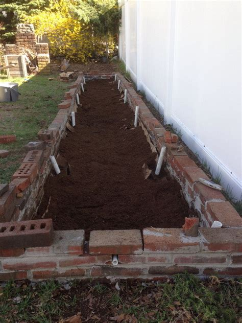 build  diy raised brick planter greenhouse