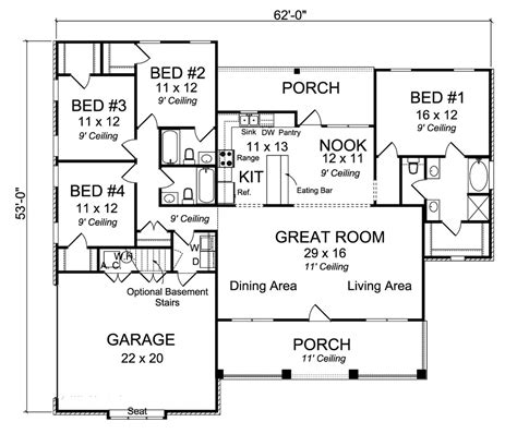 country house plan    bedrm  sq ft home plan