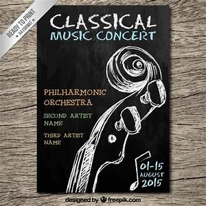 Classical music concert poster Vector | Free Download