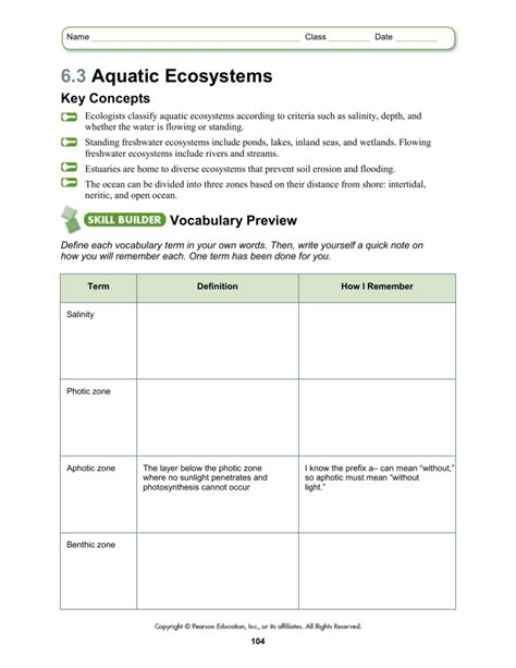 Aquatic Science Worksheets Aquatic Best Free Printable Worksheets