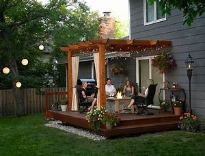 deck and patio ideas for small backyards With deck and patio ideas for small backyards