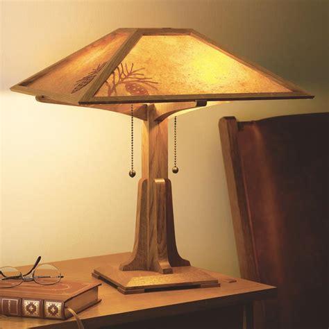 arts crafts lamp plan woodworking plan  wood magazine