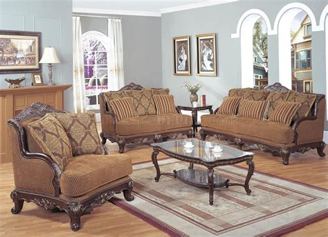 classic colored traditional living room w carved wood frame