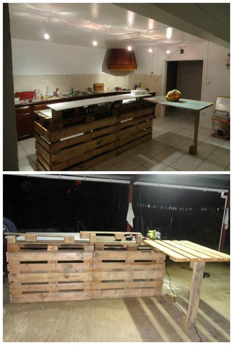 pallet kitchen countertop  pallets