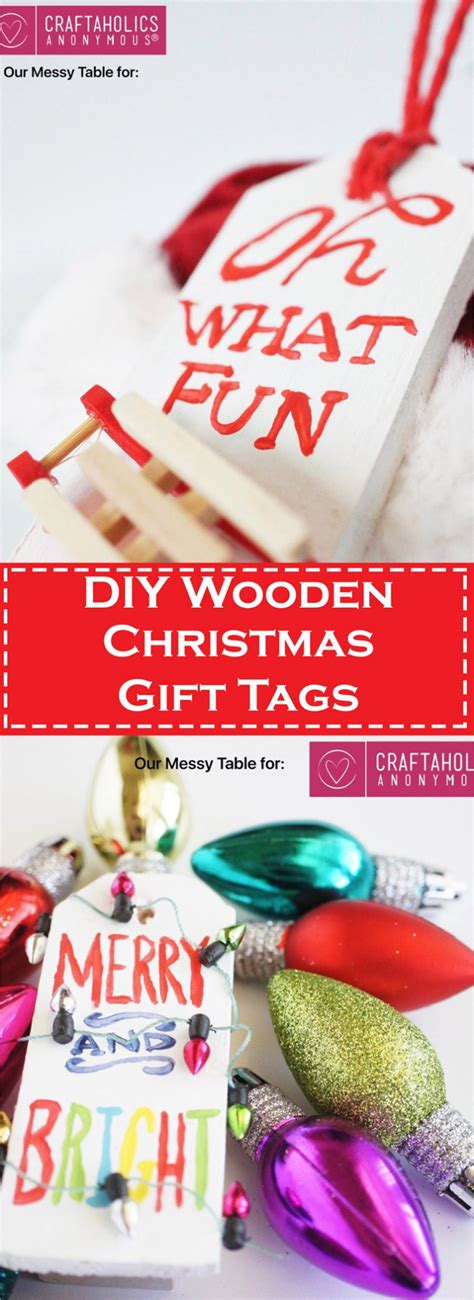 diy wooden christmas gift tags christmas craft wrapping ideas