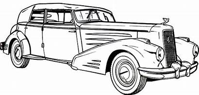Coloring Pages Cars Classic Cadillac Antique 1936