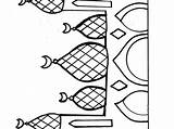 Mosque Coloring Pages Cathedral Town Getcolorings Getdrawings sketch template