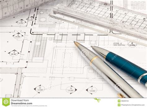 what is a floor tech engineer technical drawing stock photo image of draft interior