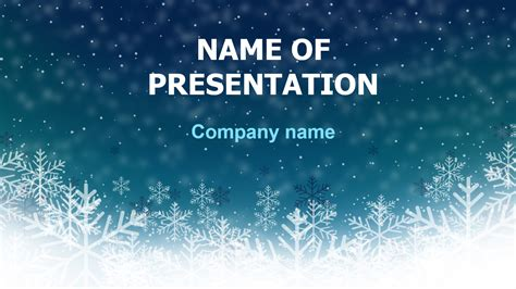 funny winter powerpoint theme