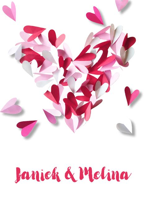 trouwkaart hartjes papier trouwkaarten kaartje2go