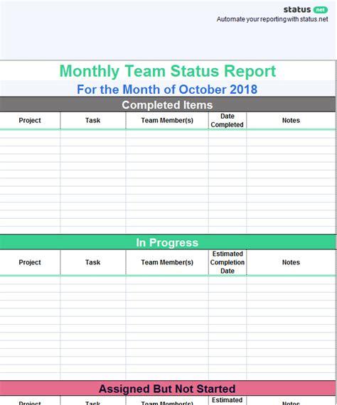 Team Progress Report Template 1 Templates Example