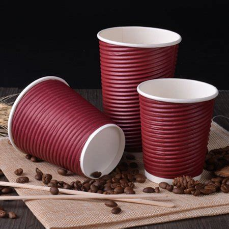 We have researched and developed these styles of twist and ripple cups and double wall cups with well dome lids. 50Pcs 280ml Disposable Coffee Paper Cup with Black Lid ...
