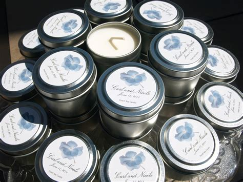 Custom Soy Travel Candle Favors For Weddings And Events On
