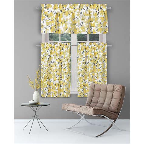 vera margery grey yellow kitchen curtain set