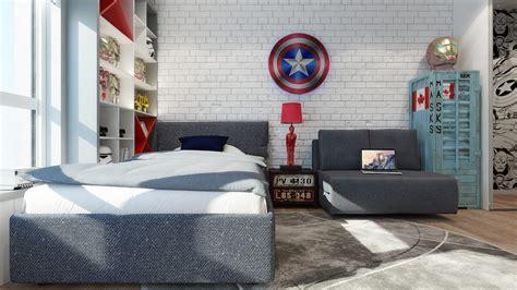 chambre chez but chambre pour garçon thème héros marvel