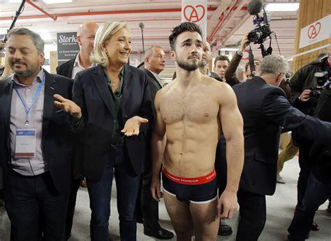 marine le pen bikini presidential hopefuls vaunt goods made in france daily