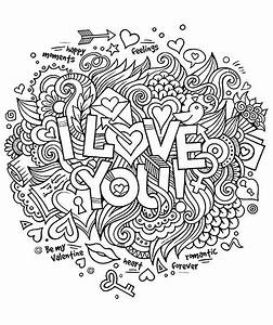 love coloring pages - i love you quotes adult coloring pages
