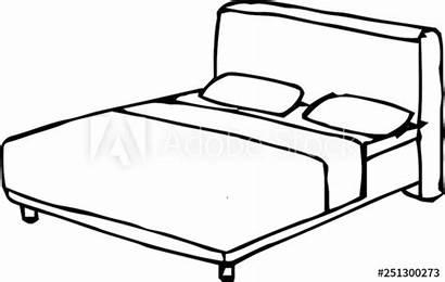 Bed Outline Sketch
