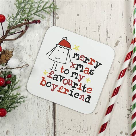 merry christmas to my favourite boyfriend card by parsy card co notonthehighstreet com