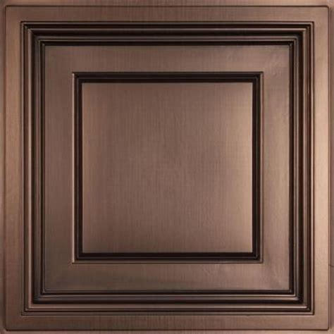 ceilume madison faux bronze 2 ft x 2 ft lay in coffered