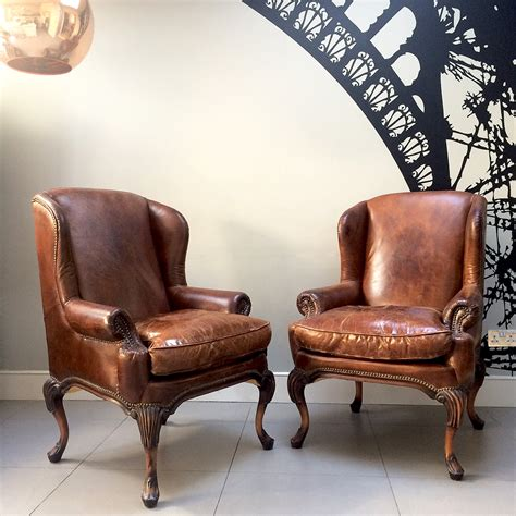 leather club chair for napoleonrockefeller collectables vintage and 8933