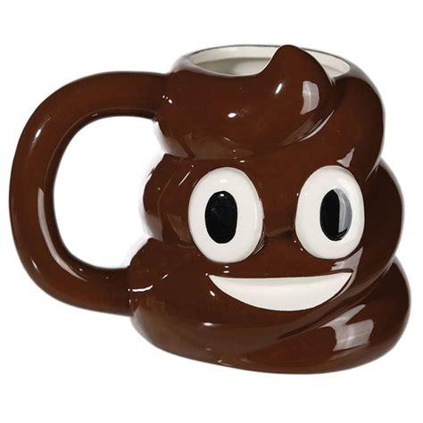 poopy poop emoticon ceramic mug emoji face drinks coffee