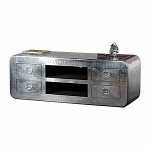 Tv Schrank Metall : lowboard tv lowboard tv schrank in aluminium beschlagen ebay ~ Indierocktalk.com Haus und Dekorationen