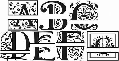 Monogram Split Fonts Letter Font Alphabet Cricut