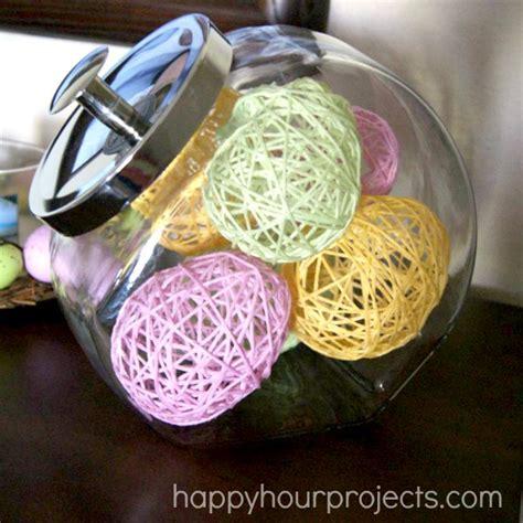 hometalk easter decor yarn wrapped eggs