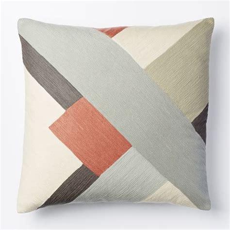 west elm throw pillows crewel modern blocks pillow cover bisque west elm