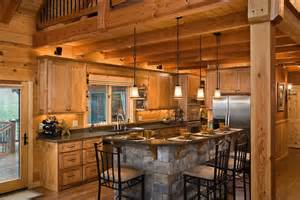 Log Cabin Kitchen Island Ideas by Log Cabin Kitchens With Modern And Rustic Style
