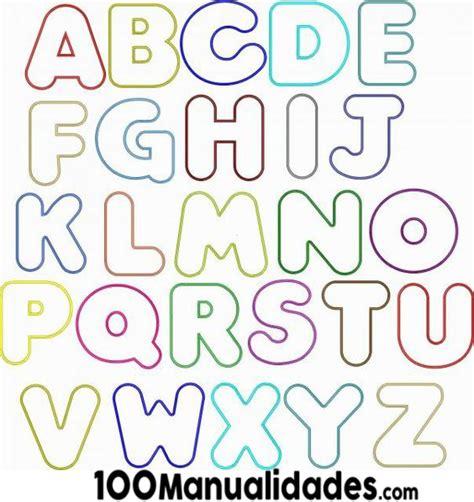 moldes de letras medianas y grandes para imprimir gratis