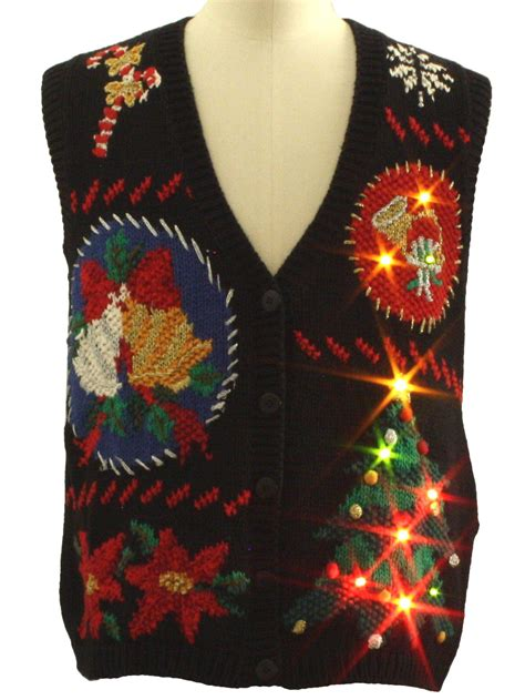 lightup ugly christmas sweater vest work in progress