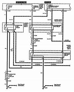 Acura Rl  1996 - 1999  - Wiring Diagrams - Cooling Fans