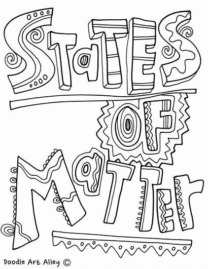 Coloring Matter States Gas Solid Liquid Pages