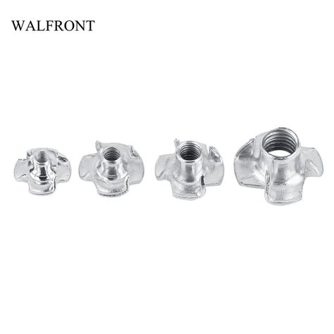 walfront set carbon steel prong tee  nuts zinc plated